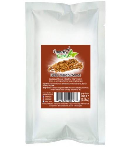 Gusanos de la harina barbacoa
