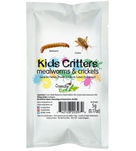 Mezcla de insectos niños